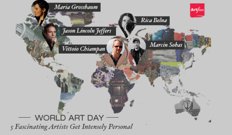 5 Fascinating Artists Get Intensely Personal on blog.artflute.com