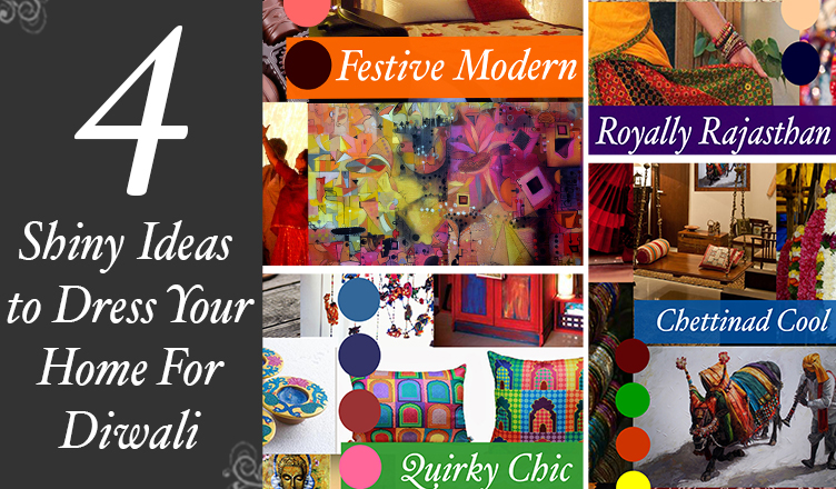 4 Shiny Ideas to Dress Your Home For Diwali on blog.artflute.com