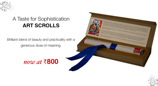 Art Scrolls for Diwali Gifting on Artflute.com