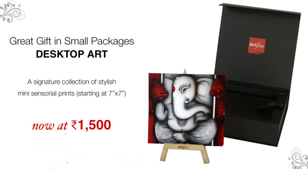 Desktop Art for Diwali Gifting on Artflute.com