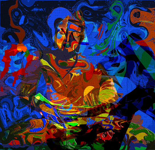 Vibrant Buddha by Vijit Pillai on Artflute.com
