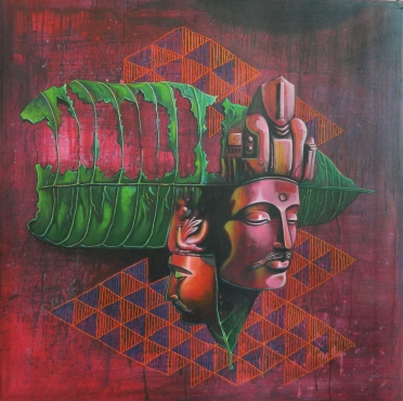 Two Heads of Boddhisattva by Shalini Soni on Artflute.com