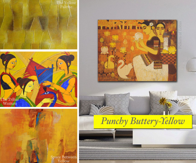 Punchy Buttery Yellow coloured works on Artflute.com