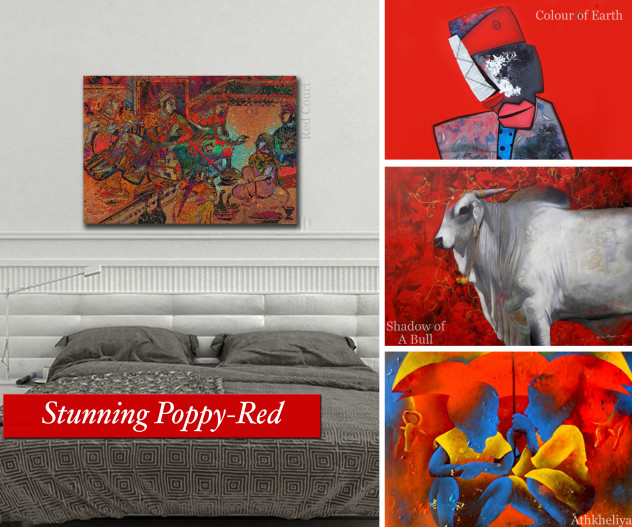 Stunning Red Coloured Works on Artflute.com