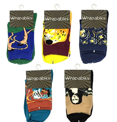 Wrapables Famous Painting Masterpiece Artwork Crew Socks